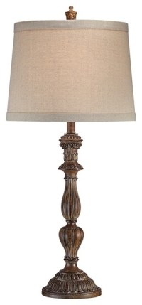Clement Brown Candlestick Table Lamp - Traditional - Table ...