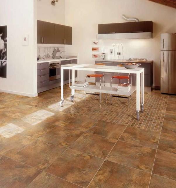 Porcelain Floor Tile in Kitchen