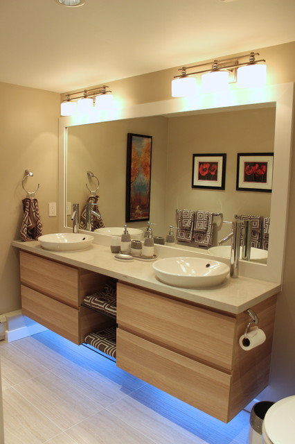 ikea kitchen faucets tall trash bags condo ensuite bathroom - transitional ...