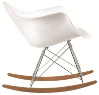 Molded White Plastic Armchair Rocker, White - Midcentury ...