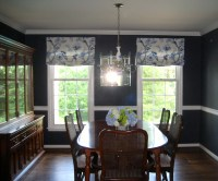 Relaxed Roman Shades - Traditional - Dining Room ...