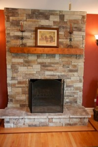 Stone Fireplaces and Wood Mantels - Traditional - Family ...