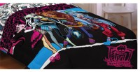 Monster High Dolls Ghouls Rule Twin Bed Comforter ...