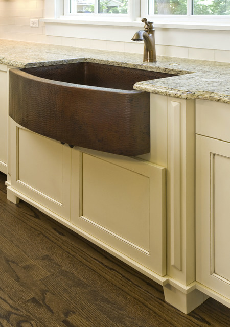 Hammered Copper Farm Sink  Craftsman  chicago  by Great Rooms Designers  Builders