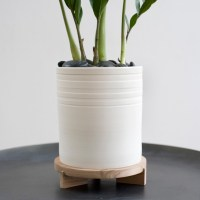 Striped Planter + Tripod Stand - Modern - Indoor Pots And ...