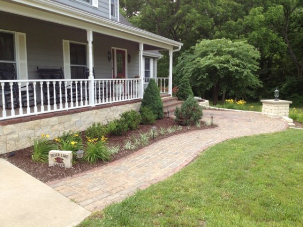 front porch make over - traditional