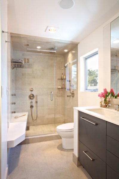 modern bathroom shower design ideas Contemporary Condo Renovation - Contemporary - Bathroom - los angeles - by Synthesis Inc.