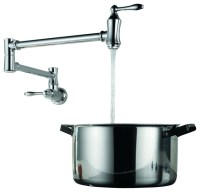 Wall Mounted Pot Filler Faucet in Chrome - Contemporary ...