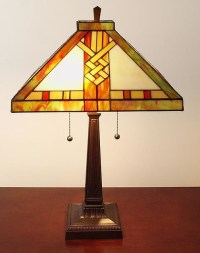 Tiffany-style Mission-style Table Lamp - Contemporary ...