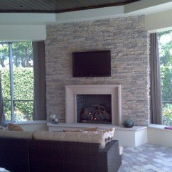 Contemporary Living Rooms With Fireplaces Room Curtain Rod Ideas Custom - Patio Miami By Hot ...