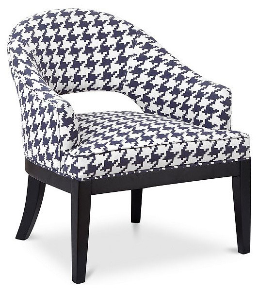 Natasha Fabric Houndstooth Accent Chair Contemporary