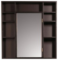 Red Mahogany Medicine Cabinet/ Double Sided Mirror ...