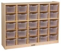 ECR4KIDS 25 Tray Storage Cabinet with Clear Bins ...