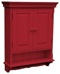New Cabinet Red French Country Painted - Farmhouse ...