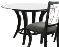 Steve Silver Cayman 48 Inch Round Dining Table w/ Beveled ...