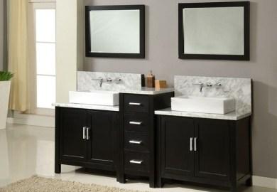 Traditional Bathroom Double Vanities
