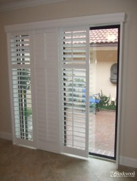 Plantation Shutters for Sliding Glass Door - Traditional ...