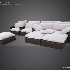 Black Leather Sleeper Sofa Set Klaussner Living Room Posen 83844 Luxury Media Sofas - Modern Sectional Other ...