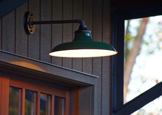 Vintage Garage Lighting Closeup  Transitional  Outdoor