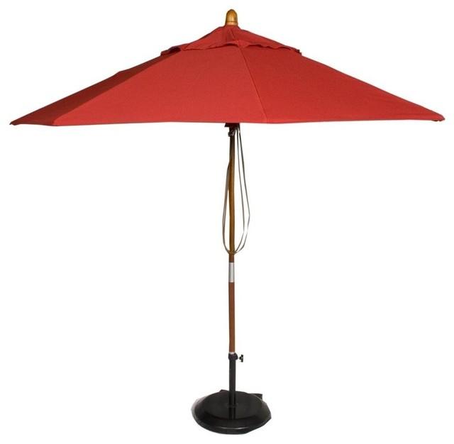 Market Patio Umbrella in Jockey Red  Contemporary