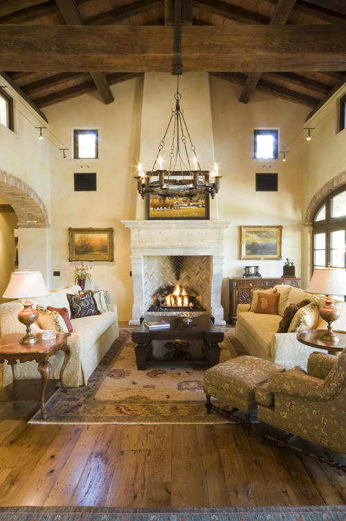 Beach Style Living Room Decor With Wood Flooring Ideas From
