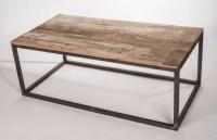 Metal Frame Wood Top Table - Industrial - Coffee Tables ...