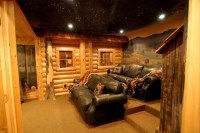 Log home theater - Traditional - Basement - detroit - by ...