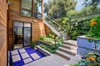 Below grade Garden Terrace - Contemporary - Landscape ...