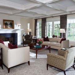 Window Treatments For Formal Living Room Home Interior Design As Seen From The Front Entry ...