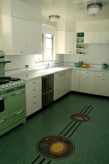 Retro  Midcentury  Kitchen  Los Angeles  By Crogan