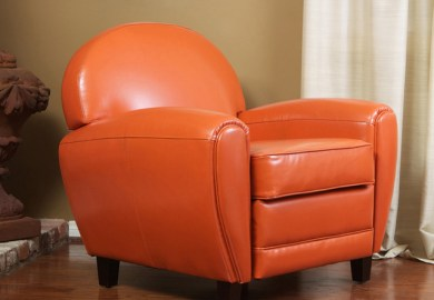 Orange Chair Living Room