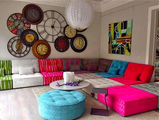 Arianne Love Contemporary Fabric Modular Sofa