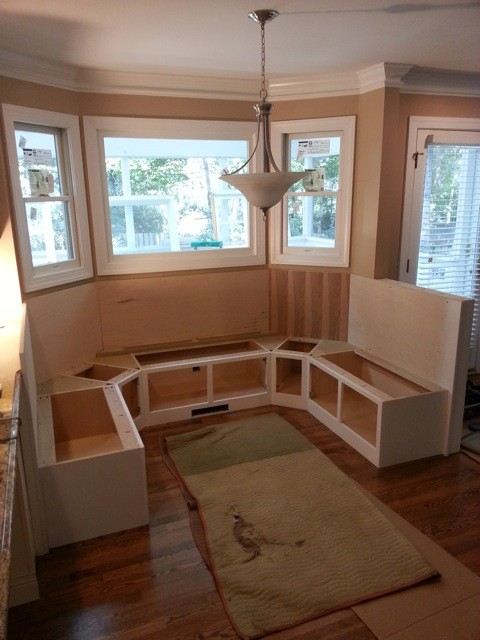 custom kitchen booth diy cabinets 25 window seat ideas