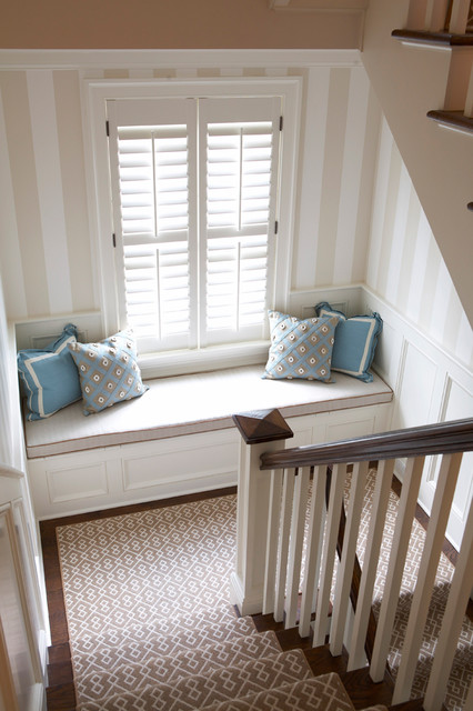Old Greenwich Beach Cottage  Beach Style  Staircase  by