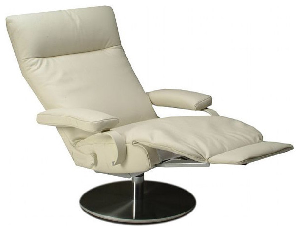 Lafer Sumi Swivel Recliner  Contemporary  Armchairs And