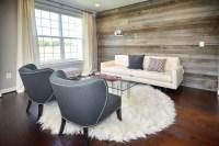 Modern Living Room / Reclaimed Wood Wall - Modern - Living ...