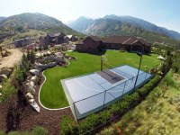 Awesome Mountain Home Backyard Basketball Court ...