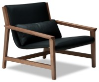 Thames Faux Leather Lounge Chair - Contemporary ...