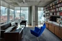 High Rise Apartment - Industrial - Living Room - chicago ...