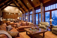 European Mountain Home - Rustic - Living Room - other ...