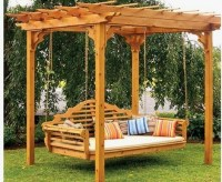 Pergola Swing Bed - Traditional - Patio - boston - by ...
