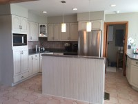 Painted and Glazed outdated Honey Oak Cabinets ...