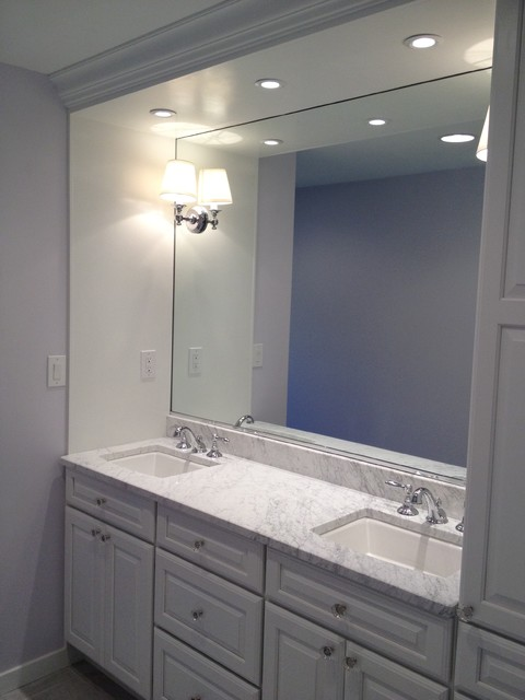 Builtin vanity white cabinets  Traditional  Bathroom