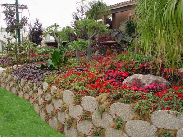 garden beds and edging with verdura