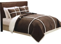 Microsuede Sherpa Full / Queen Comforter With 2 Shams ...