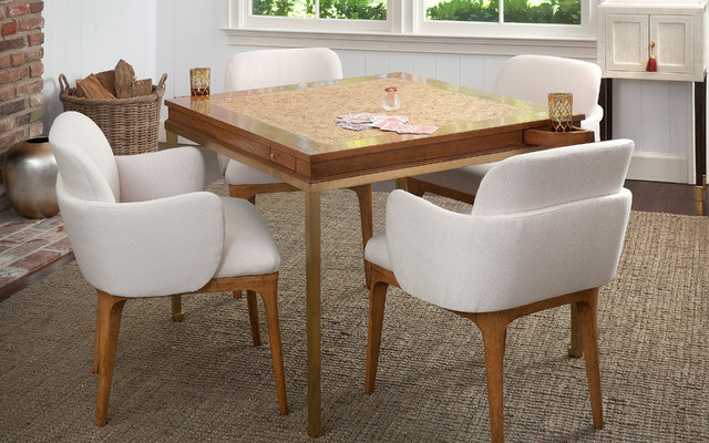 Gregory Game Table Petal Chairs Dining Los Angeles