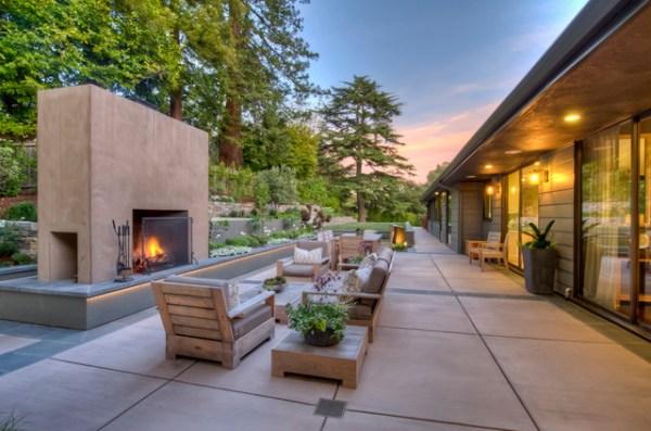 mid-century modern home living