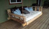 Porch Swing Bed, Full by Rustics and Stones