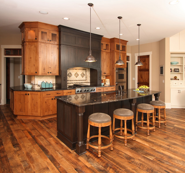 Lake House  Traditional  Kitchen  other metro  by