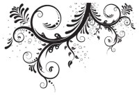 Flower Floral Swirl Wall Decal - Contemporary - Wall ...